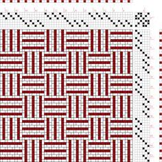 draft image: Figure 1712, A Handbook of Weaves by G. H. Oelsner, 6S, 6T