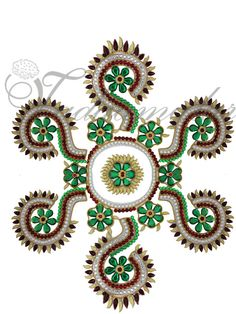 Plastic arrangeable Kolam Rangoli Design  http://www.thugil.com/festival-cultural-celebations/stage-decorations/rangoli-stickers-and-stensils/arrangeable-kolam.html