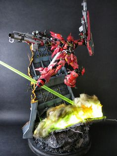 GUNDAM GUY: HGUC 1/144 Sinanju - Diorama Build by Chocofalcon