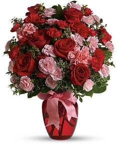 Dance with Me Bouquet with Red Roses -  www.deptula-florist.com