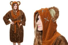 Women's Star Wars ewok fleece bathrobe available at ThinkGeek
