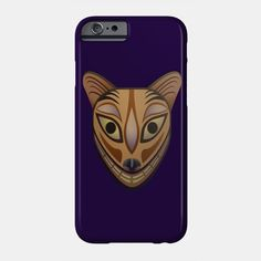 Feline tribal mask phone case