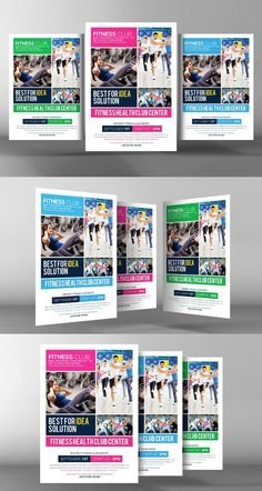 Fitness Health Club Flyer Template