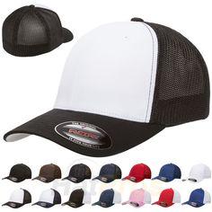98f667af985 Hats 52365  Flexfit® 6511 Trucker Mesh Baseball Cap Plain Blank Hat Curved  Visor Flex Fit -  BUY IT NOW ONLY   23.7 on  eBay  trucker  baseball  plain  ...