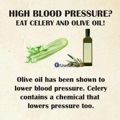 Olive oil & celery for high blood pressure