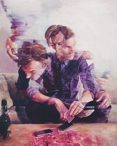 Familiar situation.. Painting by Adam Lupton @adampaints #dcnart