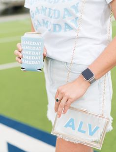 Customize this bag with a monogram in your team colors and be ready to receive all of the compliments on your cohesive ensemble. #stadiumbags #clearstadiumbags #clearstadiumpurse #clearhandbags #southernliving