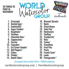 """Though our World Watercolor Group will always be a """"paint whatever you like"""" collective, many of you have asked for inspiration and ideas to keep your daily painting routine going. To k…"""