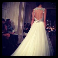 Gorgeous keyhole-backed wedding dress! <3