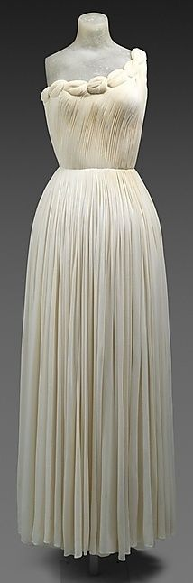 Madame Grès Dress - 1958 - by Madame Grès (Alix Barton) (French, 1903-1993) - Silk - @~ #Beautiful Dress| http://beautifuldress.lemoncoin.org