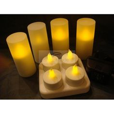 Rechargeable LED Flameless Candles (4pcs set - Electronic Tea lights, Battery Operated/powered) Rechargeable LED Candle [CAN-R4A] - US$11.40 : ImmiTrade Global
