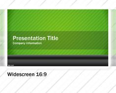 Green Widescreen PowerPoint template background for presentations is a green variant version of widescreen templates for PowerPoint that you can download for any business presentation in a widescreen or onscreen presentation device, for example modern TV or projectors use a new widescreen resolution for your presentations