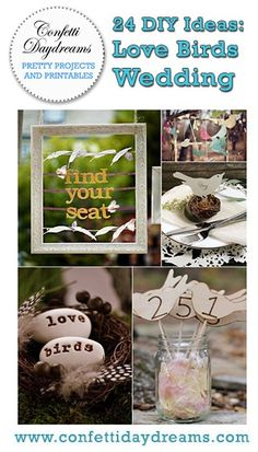 24 Diy Love Birds Wedding Theme Ideas