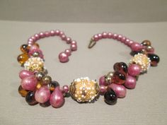 1950's Beaded Choker Necklace made in Japan by TreasureBeautiful, $26.95