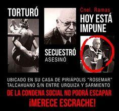 Uruguay, Contraimpunidad: ¡Escrache! Condena social contra Ernesto Avelino Ramas Pereira