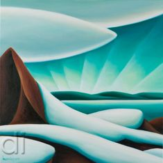 Beyond Seymour by Dana Irving presented by Hambleton Galleries Abstract Landscape Painting, Landscape Paintings, Abstract Art, Landscapes, Nordic Art, Inuit Art, Mountain Art, Artwork Display, Naive Art