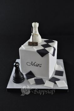 Chess-cake for Marc's birthday. - Cake by Bappsiass