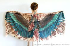 Wings Scarf Printed Scarf Mom Gift For Her Womens Scarf by Shovava