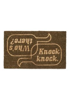 Home Is Where the Humor Is Doormat - Quirky, Brown, Tan / Cream, Novelty Print