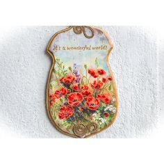 Farmhouse Decor, Rustic Decor, French Country, Rustic Home Decor,... (69 BGN) ❤ liked on Polyvore featuring home, home decor, wall art, poppy wall art, european home decor, typography wall art, wooden wall art and poppy home decor