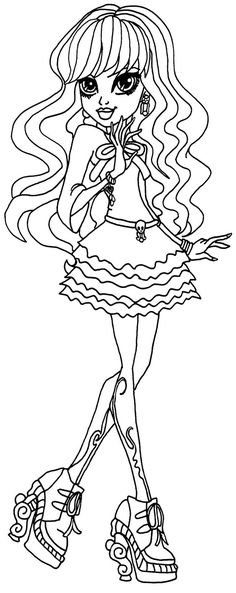 monster high coloring pages twyla - Google Search