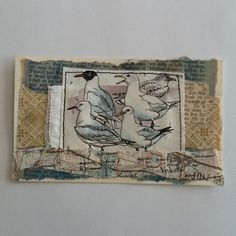 The Studio of Tina Jensen: Icad have come to an end Fabric Journals, Art Journals, Fabric Books, Fabric Art, Tea Bag Art, Free Motion Embroidery, Hand Embroidery, Creative Textiles, Bullet Journal