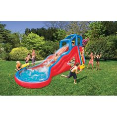 Banzai Double Cannon Blast Inflatable Water Slide,, I Don't Even Have Kids Yet And I Want This!!!