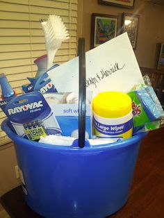 House warming gift w/ Cleaning essentials!
