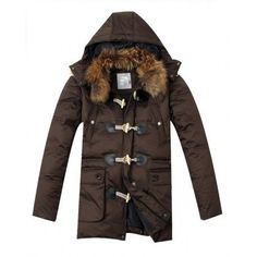 $314.69 moncler mens winter coats,Moncler Fur Mens Long Down Coats Black monclercheap4sale...