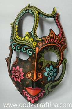 artistic painted wooden mask