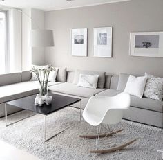 Simple And Small Living Room Designs With Modern Interior - Living Room Grey, Home Living Room, Living Room Decor, Cozy Living, Small Living, Living Area, Bedroom Decor, Apartment Interior, Interior Design Living Room