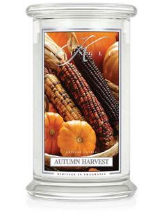 Autumn Harvest | Large Classic Jar (22oz) 2-wick | Kringle Candle