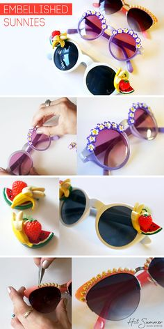 DIY Embellished Sunglasses with Erica of FashionLush via lulus.com