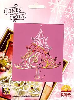 Stencil Lines and Dots LD003 Christmas tree Hobbyshop Nellie Snellen