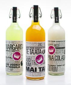 Mr & Mrs T via takeovertime Beverage Packaging, Bottle Packaging, Pretty Packaging, Brand Packaging, Design Packaging, Bottle Labels, Typo Design, Label Design, Package Design