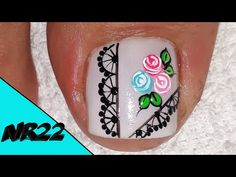 Nail Manicure, Pedicure, Violet Nails, Turquoise, Videos, Cilantro, Beauty, Youtube, Toenails