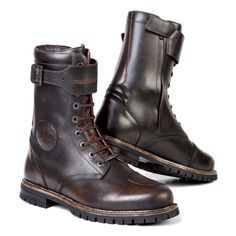 Shop for Stylmartin Rocket Motorcycle Boots - Brown. Cafe racer style longer length motorcycle boot made from full grain writer leather. Brown Motorcycle Boots, Waterproof Motorcycle Boots, Biker Boots, Cafe Racer Motorcycle, Motorcycle Style, Motorcycle Outfit, Women Motorcycle, Motorcycle Quotes, Biker Style