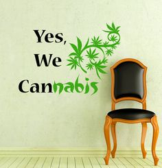 Wall Decals Yes We Can Quote Marijuana Cannabis Leaf Home Decor Vinyl Sticker Decal Bedroom Dorm L610