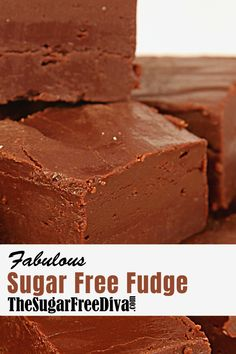 FABULOUS Sugar Free FUDGE This Fudge really is Fabulous and it is also made without adding any sugar. It is also an easy and YUMMY fudge to make and eat :] Sugar Free Deserts, Sugar Free Fudge, Sugar Free Baking, Sugar Free Candy, Sugar Free Sweets, Sugar Free Recipes, Diabetic Desserts, Köstliche Desserts, Low Carb Desserts