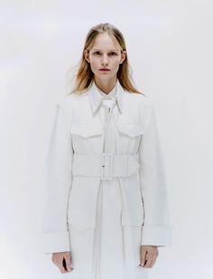 Sleek Magazine S/S 2012 / wide belt, white trench  #mizustyle