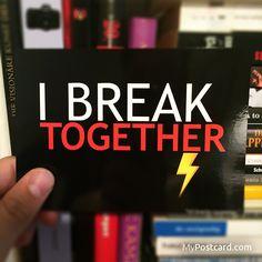 """Denglisch - """"Ich breche zusammen."""" - Karten in der kostenlosen MyPostcard App - #mypostcard #denglisch #grußkarte"""