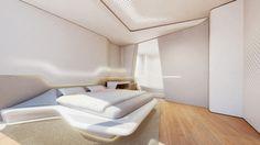 Designer-Wohnungen von zaha hadid-zeitgenössische materialien-funktionale möbel opus-tower