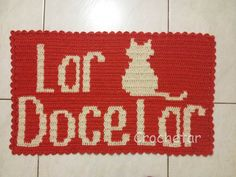 Lar Doce Lar Gato Tapete de porta tapestry / fio conduzido