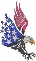 American Eagle machine embroidery design