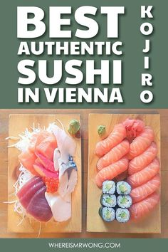 Restaurant Kojiro Fish Shop at Naschmarkt serves the best Sushi in Vienna. Whether it be California Maki, tuna or shrimp rolls, their Sushi is like art! Best Vegetarian Restaurants, Asian Restaurants, Sashimi, Japan Sushi, Shrimp Rolls, Wiener Schnitzel, Sushi Set, How To Make Sushi, Best Sushi