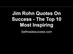 Jim Rohn was one of the greatest self development and success speakers of his time and his impact is still being felt to this day.