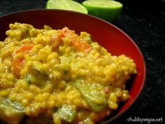 Biryani indiano, risotto de legumes com várias especiarias, yummy! Vegan