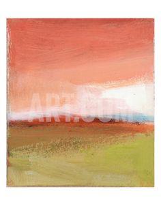 Fall Stylized Landscape Print at Art.com
