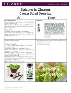 Ingredients MAKES: 1 C ML) 2 Tbsp ml) Caesar Dressing Mix 2 Tbsp ml) mayonnaise, or Greek yogurt 1 Tbsp ml) lemon juice C ml) olive oil C ml) milk 2 crushed garlic cloves, optional Epicure Steamer, Epicure Recipes, Cheese Cultures, What Can I Eat, Clean Eating, Healthy Eating, Caesar Salad, Natural Flavors, Salad Dressing