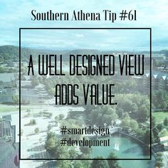 A well designed view adds value. #southernathenatips #smartdesign #development We were talking with a client today about the best views on a land site and the benefits of capitalizing on them. Always take advantage of the scenery! #architecture #realestate #nashville #developer